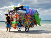 Torre Lapillo - Seller on the beach Royalty Free Stock Photos