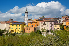 TORRE LE NOCELLE. Avellino, Italy - Panoramic view of the old town stock photography