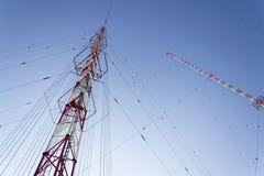 Torre Liblice, il più alta costruzione della radiotrasmittente in repubblica Ceca Immagini Stock Libere da Diritti