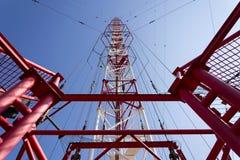 Torre Liblice, il più alta costruzione della radiotrasmittente in repubblica Ceca Fotografie Stock Libere da Diritti
