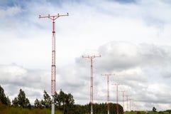 Torre ligera de aterrizaje del aeropuerto fotografía de archivo