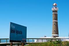 Torre ligera de Playa José Ignacio fotografía de archivo libre de regalías