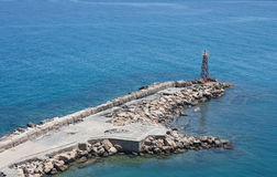 Torre ligera del mar Foto de archivo