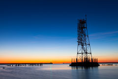 Torre ligera del marco esquelético Fotografía de archivo libre de regalías