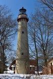 Torre ligera en nieve Imagenes de archivo