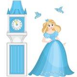 Torre linda de Cenicienta y de reloj
