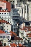 Torre Lisbona dell'ELEVATORE di SANTA JUSTA immagine stock
