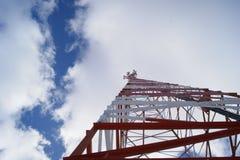 Torre móvel das telecomunicações Fotografia de Stock Royalty Free