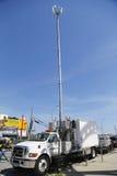 Torre móvil de la célula de Verizon Wireless Fotos de archivo libres de regalías