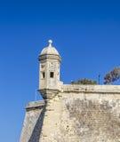 Torre Malta del punto de Senglea Foto de archivo