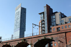Torre Manchester de Hilton Beetham Fotos de archivo libres de regalías