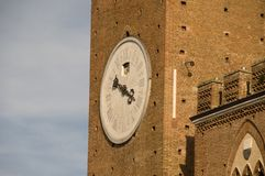 Torre Mangia in Siena, Italy Stock Images
