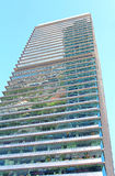 Torre Mapfre是奥林匹克口岸的,巴塞罗那一个摩天大楼 免版税库存照片