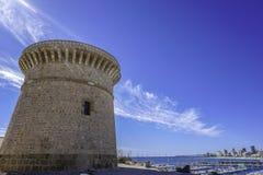Torre marinha do relógio da Espanha imagem de stock