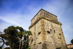 Torre Matilde Viareggio. View of the Matilde Tower in Viareggio Versilia medieval period royalty free stock photos