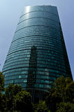 Torre mayor skyscraper Mexico, city. MEXICO CITY,MEXICO-SEPTEMBER 14,2016: View from below of `Torre Mayor` skyscraper on a clear sunny day at Mexico City Stock Image