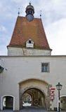 Torre medieval da cidade na cidade de Freistadt foto de stock