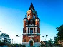 Torre medieval em Zemun no nascer do sol imagem de stock royalty free