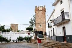 Torre medieval en el repique de Becerro Cazorla España Imagen de archivo libre de regalías