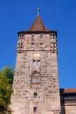 Torre medieval, Nurnberg, Alemania Foto de archivo libre de regalías