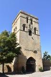 Torre medievale con le finestre a Laguardia, Spagna fotografia stock