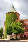 Torre medievale della polvere a Riga, Lettonia Fotografia Stock