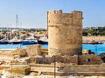 Torre medievale di Rodi Immagine Stock