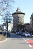 Torre medievale di Sinwell, Norimberga, Germania fotografie stock