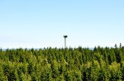 Torre militare del radar Fotografia Stock