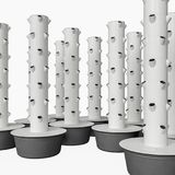 Torre modulare di colture aeroponiche con i vasi crescenti illustrazione di stock