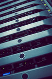 Torre montada estante negro del servidor imagen de archivo