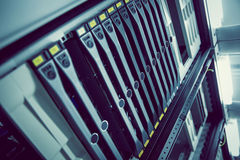 Torre montada estante negro del servidor Imagen de archivo libre de regalías