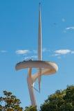 Torre Montjuic Barcelona de la TV Fotografía de archivo libre de regalías