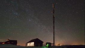 Torre na noite video estoque