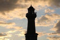 Torre na perspectiva das nuvens imagem de stock royalty free