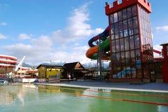 Torre nel aquapark Fotografie Stock