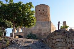Torre nel castello di Capdepera Immagine Stock