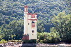 Torre nella valle media del Reno Fotografia Stock Libera da Diritti