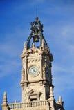 Torre Neoclassic com sino Fotografia de Stock Royalty Free