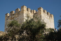 Torre no castelo de St George Imagens de Stock Royalty Free