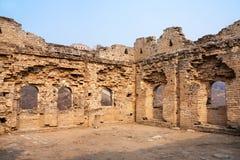 Torre no restaurada de la Gran Muralla, China del reloj fotos de archivo