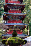A torre no santuário de Honden em Nikko, Japão Fotografia de Stock Royalty Free