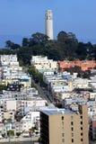 Torre norte de Coit da praia em San Francisco 1 Fotografia de Stock