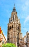 Torre norte de Toledo Cathedral, Espanha imagens de stock royalty free