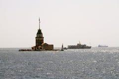 Torre nova do ` s, Istambul, um símbolo famoso de Turquia foto de stock royalty free