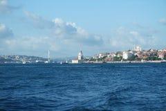 Torre nubile del ` s, Costantinopoli, un simbolo famoso della Turchia immagini stock