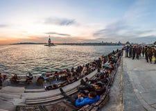 Torre nubile del ` s di panorama Costantinopoli immagine stock