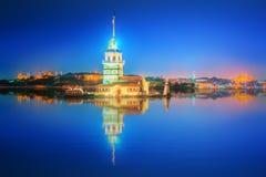 Torre nubile o Kiz Kulesi Costantinopoli fotografia stock libera da diritti