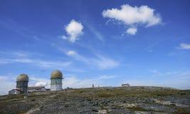 Torre, o pico o mais alto de Portugal, Serra da Estrela Foto de Stock Royalty Free