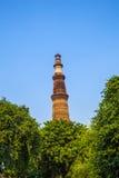 Torre o Qutb Minar de Qutub Minar, fotografía de archivo libre de regalías